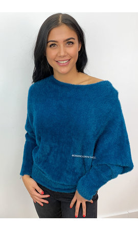PETROL - 'FIONA' - SUPER SOFT FLUFFY SWEATER