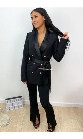 BLACK - 'SARA' - PREMIUM QUALITY BLAZER DRESS