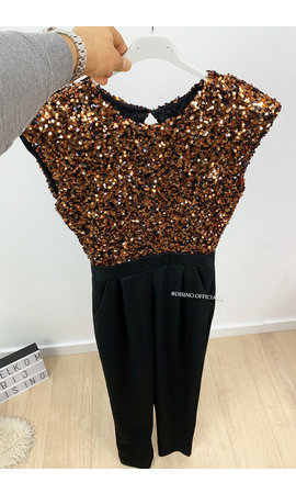 BRONSE - 'RUBY JUMPSUIT' - ALL OVER SEQUIN JUMPSUIT