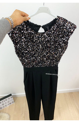 SILVER - 'RUBY JUMPSUIT' - ALL OVER SEQUIN JUMPSUIT