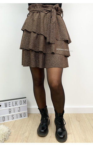 BRONSE - 'ABIGAIL' - SPARKLE LAYERED RUFFLE SKIRT