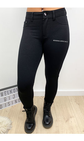 BLACK - 'ANNA' - SUPER STRETCH LEGGING JEANS