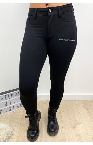 BLACK - 'ANNA' - SUPER STRETCH LEGGING JEANS
