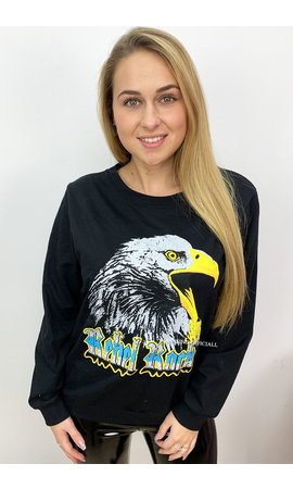 BLACK - 'EAGLE HEAD' - EAGLE ROCK SWEATER