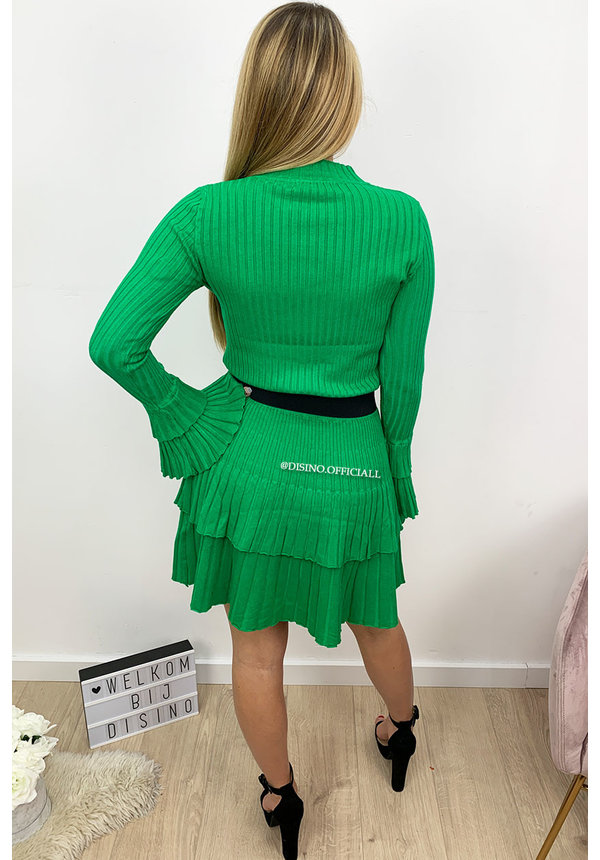 GREEN - 'YASMINE' - PREMIUM QUALITY INSPIRED TWO PIECE