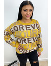 OCHER - 'AMOUR IS MORE' - OVERSIZED SUPER SOFT KNITTED SWEATER