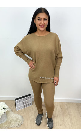 BEIGE - 'KARINE' - FASHIONABLE SOFT COMFY SUIT