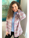 LILA - 'TALI' - OVERSIZED CHECKED BLOUSE