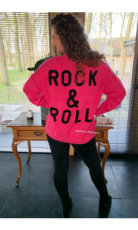 FUCHSIA - 'ROCK 'N ROLL' - PREMIUM QUALITY OVERSIZED SWEATER