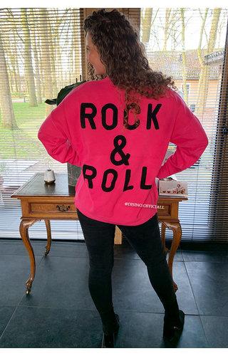 FUCHSIA - 'ROCK 'N ROLL' - PREMIUM QUALITY OVERSIZED SWEATER