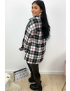 BLACK RED - 'SIEN' - OVERSIZED FLANNEL BLOUSE