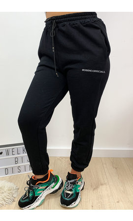 BLACK - 'ELLISH' - PERFECT STYLISH  JOGGER PANTS