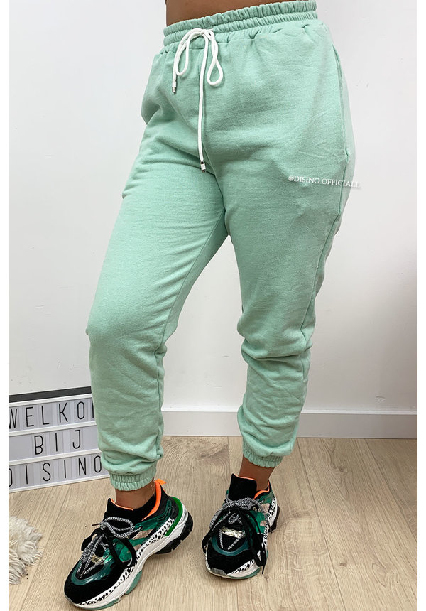 MINT GREEN - 'ELLISH' - PERFECT STYLISH  JOGGER PANTS