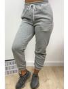 GREY - 'ELLISH' - PERFECT STYLISH  JOGGER PANTS