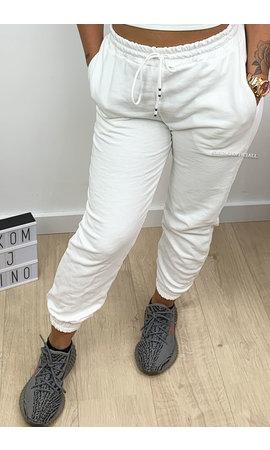 WHITE - 'ELLISH' - PERFECT STYLISH  JOGGER PANTS