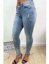 HELLO MISS - LIGHT BLUE - HIGH RISE SKINNY JEANS - 519