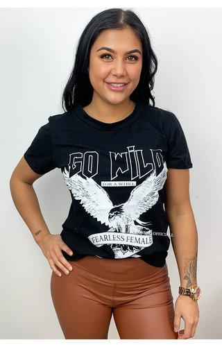 BLACK - 'GO WILD' - EAGLE TEE