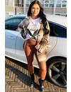 BROWN - ESMERALDA - LEATHER LOOK LEGGING PANTS