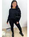 BLACK - 'MELISSA PANTS' - PREMIUM QUALITY COMFY RIBBED TWIN SET