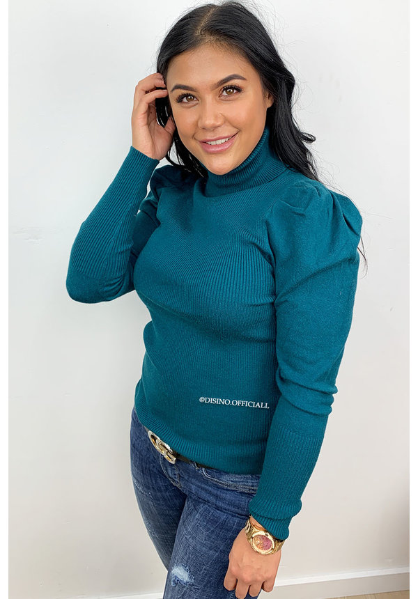 PETROL - 'DEBORAH' - PUFF SHOULDER COL TOP