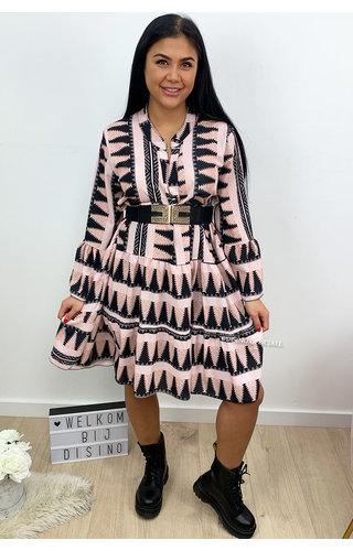 PINK - 'DONNA AZTEC' - INSPIRED DRESS