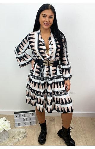 WHITE - 'DONNA AZTEC' - INSPIRED DRESS