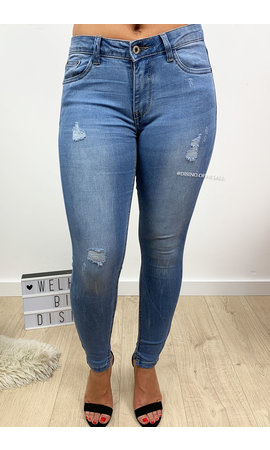 QUEEN HEARTS JEANS -  BLUE - PERFECT SKINNY - 9358