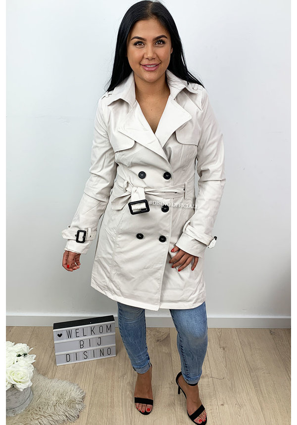 ECRU - 'TRENCH MY COAT' - PREMIUM QUALITY FITTED TRENCH COAT