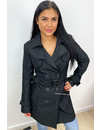 BLACK - 'TRENCH MY COAT' - PREMIUM QUALITY FITTED TRENCH COAT