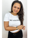 WHITE - 'NOT A BLOGGER' - BASIC TEE