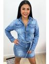 BLUE - 'DANIQUE' - SUPER STRETCH DENIM DRESS