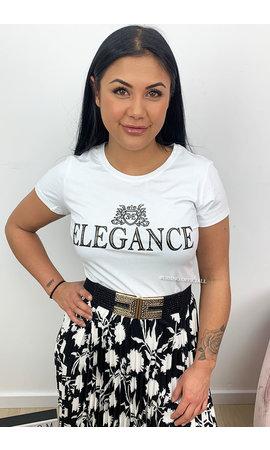 WHITE - 'ELEGANCE TEE'