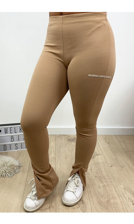 CAMEL - 'NOELLE' - PERFECT SIDE SPLIT PANTS