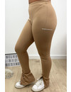 CAMEL - 'NOELLE' - PERFECT SIDE SPLIT PANTS