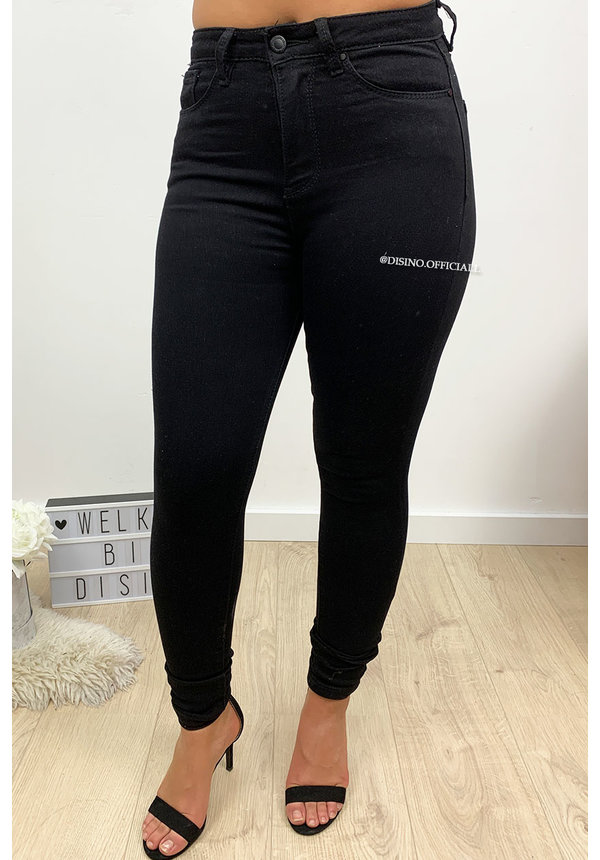 QUEEN HEARTS JEANS - BLACK - BEST HIGH WAIST SKINNY JEANS - 005