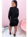 BLACK - 'DELANY' - SEXY LONG SLEEVE BODYCON DRESS
