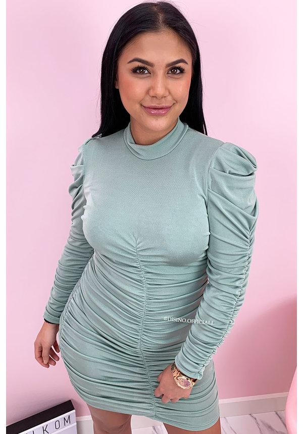 MINT GREEN - 'DELANY' - SEXY LONG SLEEVE BODYCON DRESS