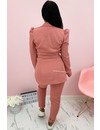 PINK - 'CHANEL' - CLASSY PUFF SLEEVE SUIT