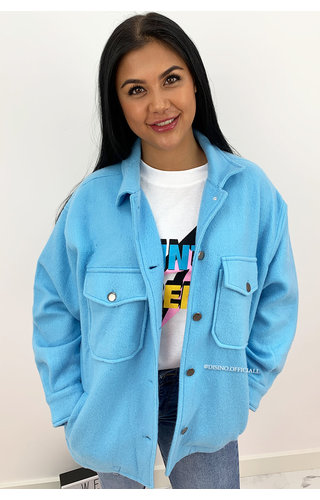 BLUE - 'SARINA' - COZY OVERSIZED BLOUSE JACK