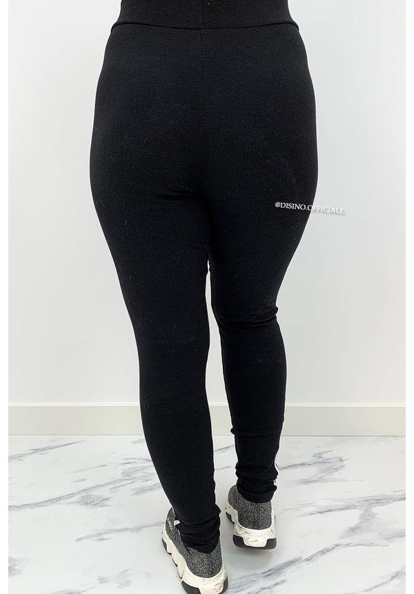 BLACK - 'SILLA' - COMFY STRIPED PANTS