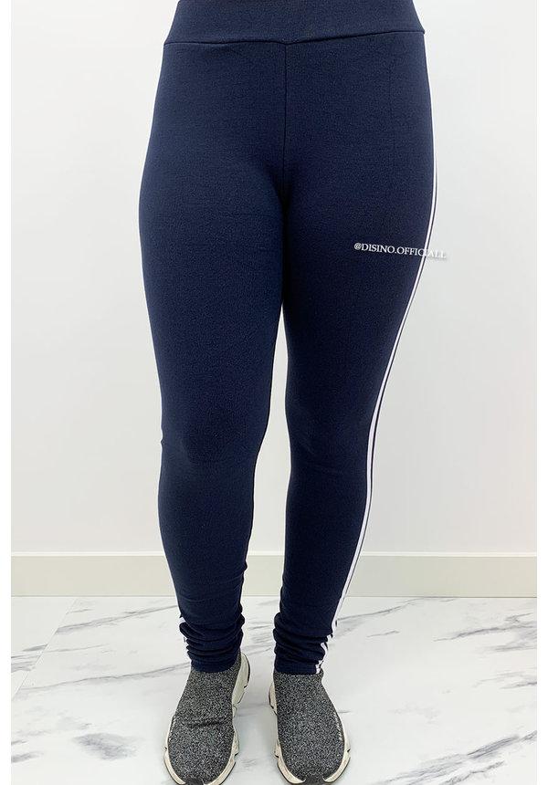 NAVY BLUE - 'SILLA' - COMFY STRIPED PANTS