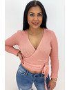 ROSE - 'MILA' - SOFT TOUCH KNIT WIKKEL TOP