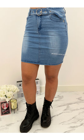 BLUE - 'NAYA' - SUPER STRETCH DENIM SKIRT