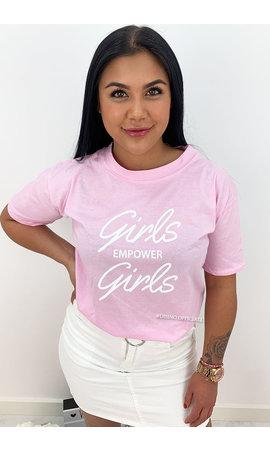 PINK - 'GIRLS EMPOWER GIRLS' - SLOGAN TEE