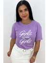 LILA - 'GIRLS EMPOWER GIRLS' - SLOGAN TEE