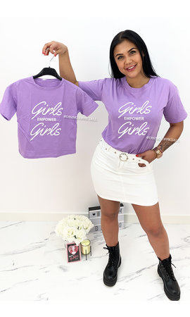 LILA - 'GIRLS EMPOWER GIRLS' - KIDS SLOGAN TEE