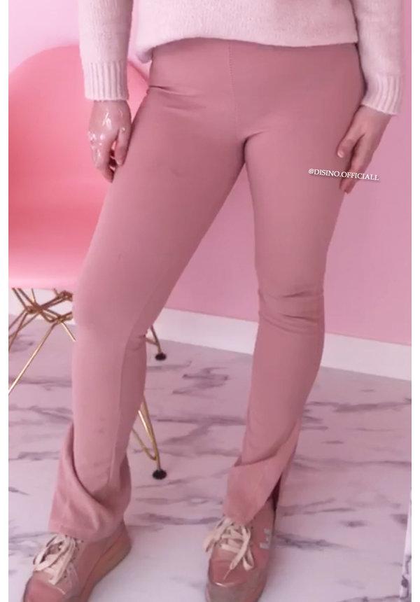 SOFT PINK - 'NOELLE' - PERFECT SIDE SPLIT PANTS