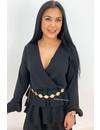 BLACK - 'BLOSSOM' - LAYERED RUFFLE DRESS