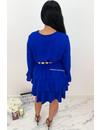ROYAL BLUE - 'BLOSSOM' - LAYERED RUFFLE DRESS