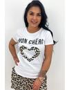 BEIGE - 'MON CHERI' - LEO HEART TEE